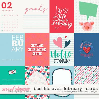 Best Life Ever: February Cards by Brook Magee and Studio Basic