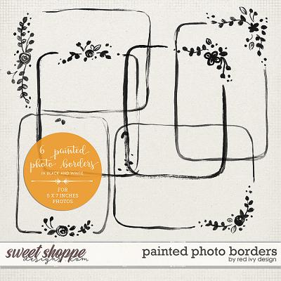 Painted Photo Borders by Red Ivy Design