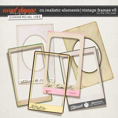 CU REALISTIC ELEMENTS | VINTAGE FRAMES Vol.5 by The Nifty Pixel
