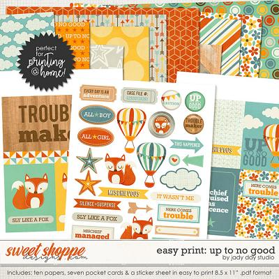 Easy Print: Up To No Good by Jady Day Studio