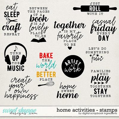 Home Activities | Stamps by Digital Scrapbook Ingredients