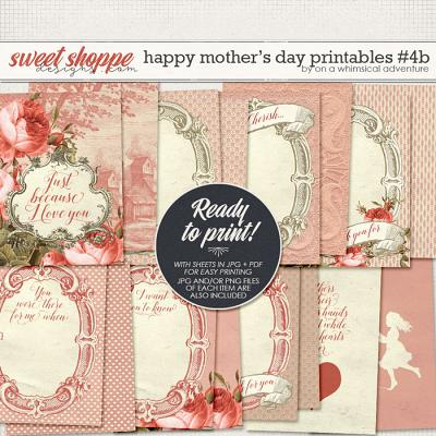 Happy Mother's Day Printable Journal Cards Red by On A Whimsical Adventure