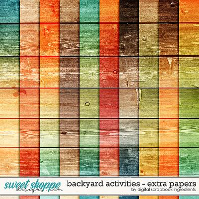 Backyard Activities   Extra Papers by Digital Scrapbook Ingredients