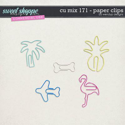 CU Mix 171 - paperclips by WendyP Designs