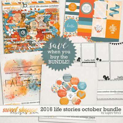 2016 Life Stories - October Bundle by Sugary Fancy