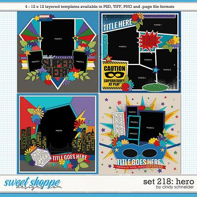Cindy's Layered Templates - Set 218: Hero by Cindy Schneider