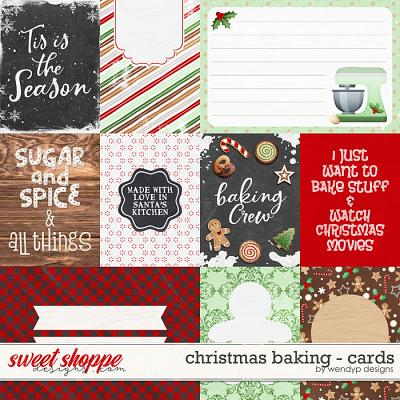 Christmas Baking - Cards by WendyP Designs