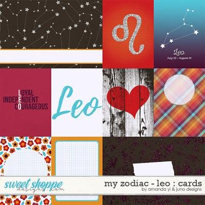 My Zodiac - Leo : Cards by Amanda Yi & Juno Designs