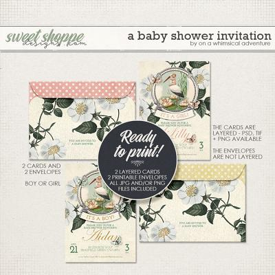 A Baby Shower Invitation by On A Whimsical Adventure