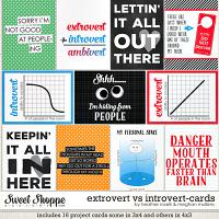Extrovert vs. Introvert - Cards by Heather Roselli & Meghan Mullens
