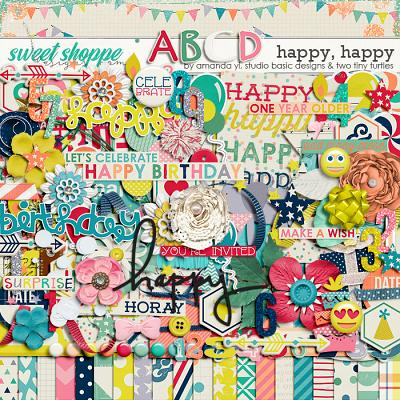 Happy Happy Kit by Amanda Yi, Studio Basic and Two Tiny Turtles