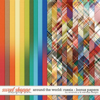 Around the world: Russia - Bonus Papers by Amanda Yi & WendyP Designs