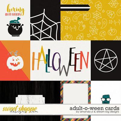 Adult-O-Ween: Cards by Amanda Yi & Dream Big Designs