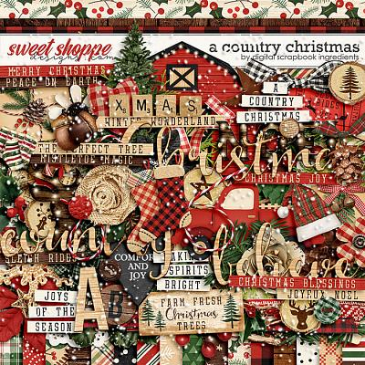 A Country Christmas by Digital Scrapbook Ingredients