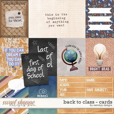 Back to Class - Cards by WendyP Designs