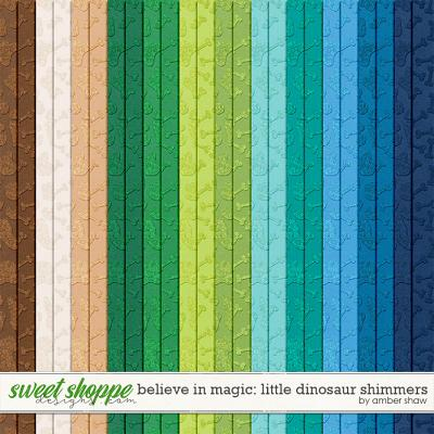 Believe in Magic Little Dinosaur: Shimmers by Amber Shaw