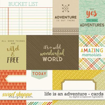 Life Is An Adventure | Journal Cards by Digital Scrapbook Ingredients
