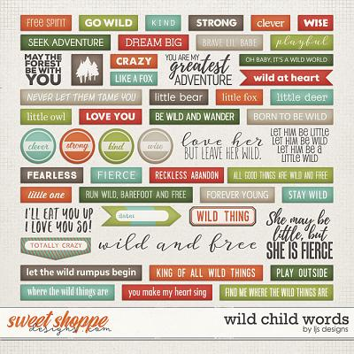 Wild Child Words by LJS Designs