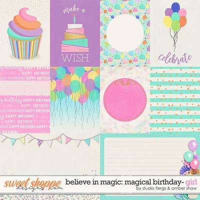 Believe in Magic Magical Birthday - Girl: Cards by Amber Shaw & Studio Flergs