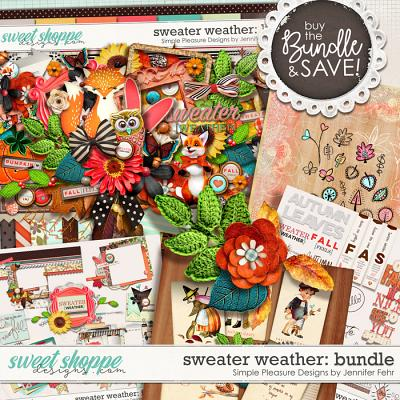 sweater weather bundle: Simple Pleasure Designs by Jennifer Fehr