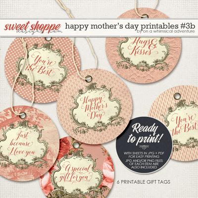Happy Mother's Day Printable Round Labels Red by On A Whimsical Adventure
