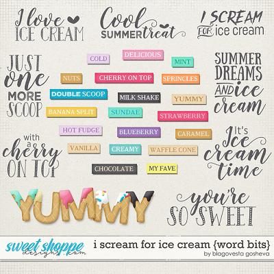 I scream for ice cream {word bits} by Blagovesta Gosheva