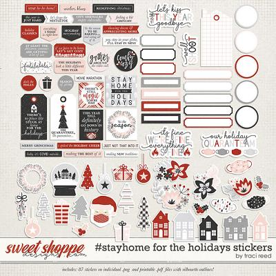 #StayHome for the Holidays: Stickers by Traci Reed