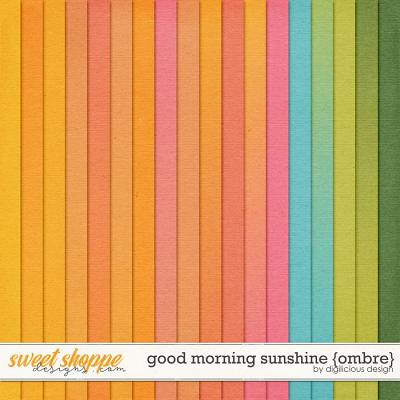 Good Morning Sunshine {Ombre Solids} by Digilicious Design