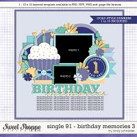 Cindy's Layered Templates - Single 91: Birthday Memories 3 by Cindy Schneider
