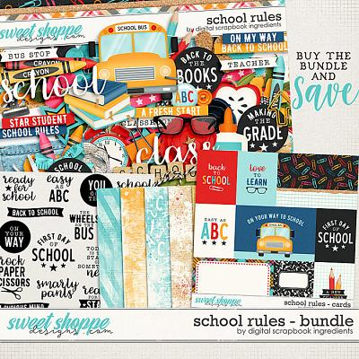 School Rules Bundle by Digital Scrapbook Ingredients