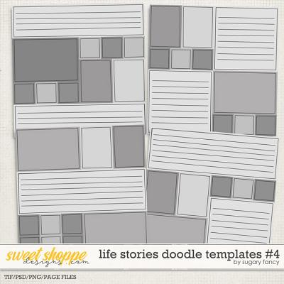 Life Stories Doodle Templates #4 by Sugary Fancy