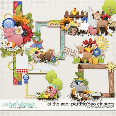 At the Zoo: Petting Zoo Clusters by Meagan's Creations