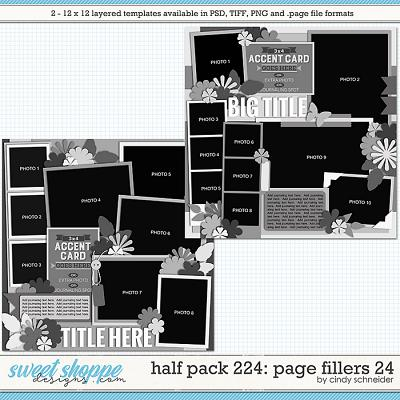 Cindy's Layered Templates - Half Pack 224: Page Fillers 24 by Cindy Schneider