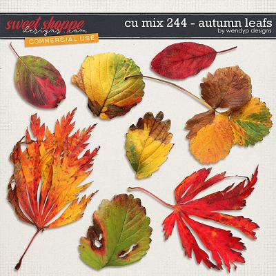 CU Mix  244 - Autumn Leafs by WendyP Designs