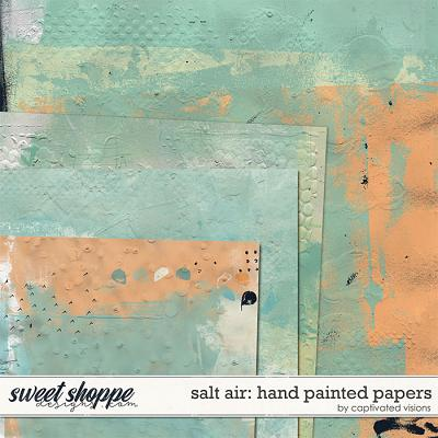 Salt Air: Hand Painted Papers by Captivated Visions