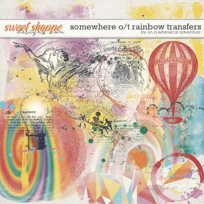 Somewhere Over The Rainbow Transfers by On A Whimsical Adventure