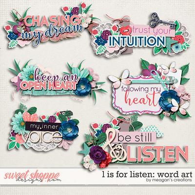 L is for Listen: Word Art by Meagan's Creations