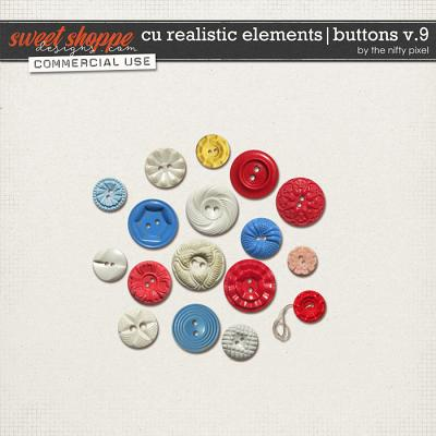 CU REALISTIC ELEMENTS | BUTTONS V.9 by The Nifty Pixel