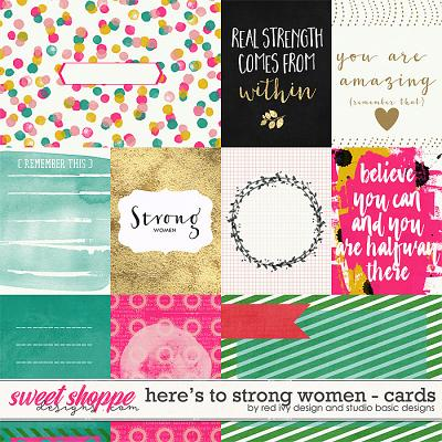 Here's To Strong Women Cards by Red Ivy Design and Studio Basic
