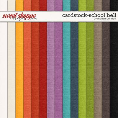 Cardstock-School Bell by Melissa Bennett