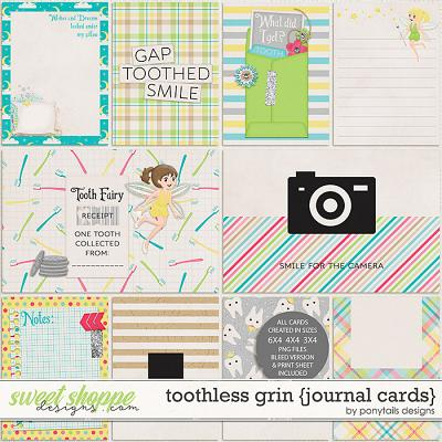 Toothless Grin Journal Cards by Ponytails