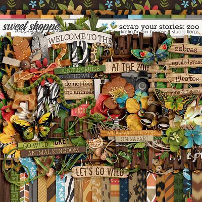 Scrap Your Stories: Zoo by Studio Flergs & Kristin Cronin-Barrow