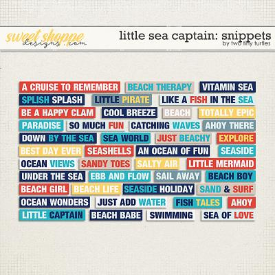 Little Sea Captain: Snippets by Two Tiny Turtles