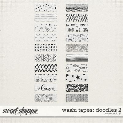 Washi tapes: doodles 2 by Amanda Yi