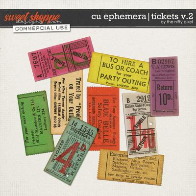 CU EPHEMERA | TICKETS V.2 by The Nifty Pixel