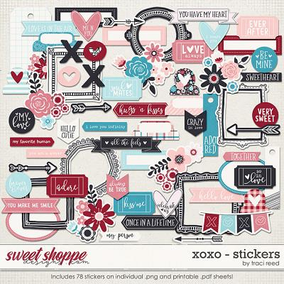 XOXO Stickers by Traci Reed