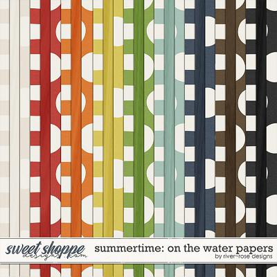 Summertime: On the Water Papers by River Rose Designs
