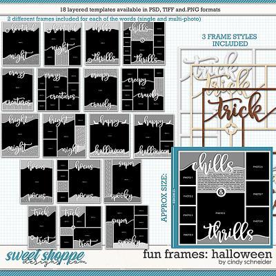 Cindy's Layered Templates - Fun Frames: Halloween by Cindy Schneider