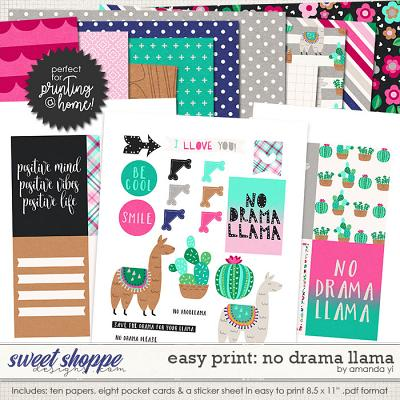 Easy Print: No Drama Llama by Amanda Yi