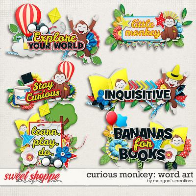 Curious Monkey: Word Art by Meagan's Creations